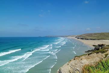 Perranporth beach is only a little further up the coast.