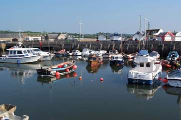 Bridport harbour - with the beach at West Bay - is an easy drive from the cottage.