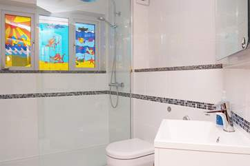 The luxurious shower-room.