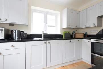 The newly refurbished kitchen.