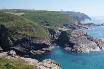 Portheras Cove is just one mile distant.