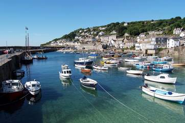 Mousehole is just two miles away along the coastal path.