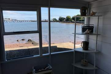 Fabulous views from inside the summerhouse too!