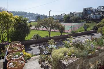 Another lovely view from outside of Chindit Cottage looking over towards the centre of Dartmouth.