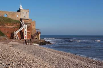 Sidmouth is one of the nearest beaches on the stunning east Devon coast.