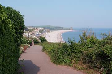 Budleigh Salterton is another favourite pebbled beach.