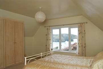 The first floor master bedroom (Bedroom 3) enjoys glorious sea views.