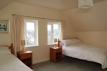 Although High Ayshe accommodates 10 guests, first floor Bedroom 5 is furnished with one double and one twin bed for versatility.