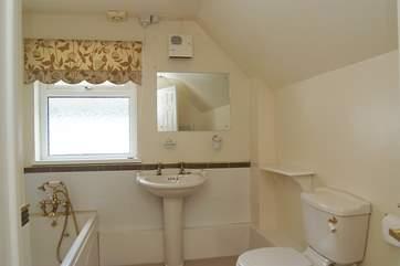 The first floor family bathroom.
