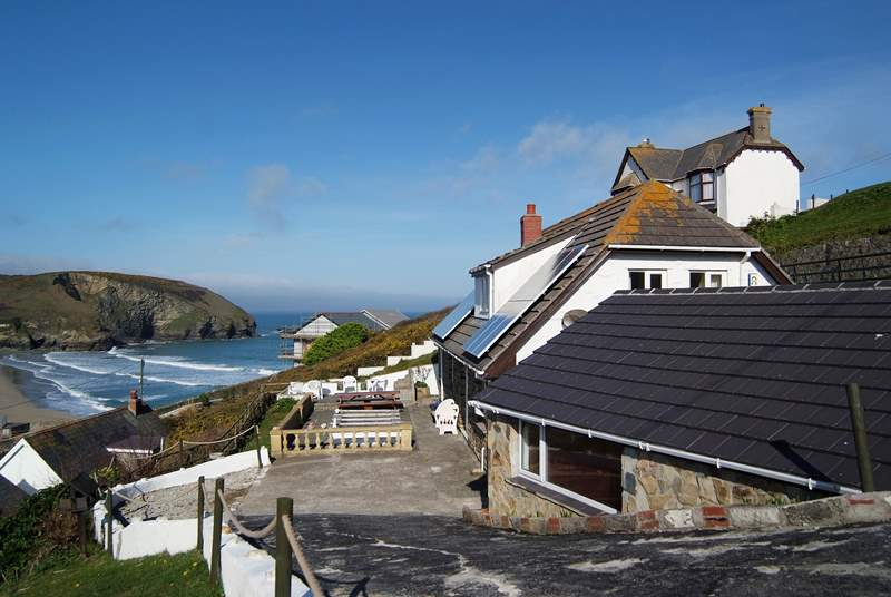 High Ayshe is set up on the hill overlooking the village and has fantastic sea views.