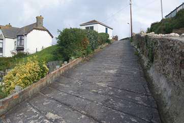 Due to the cliffside location of High Ayshe, the driveway is steep, if prefer you can park at the top of the drive or there are always spaces on the lane.