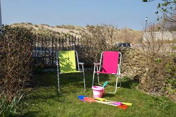 The Owners even provide deck chairs and buckets and spades to take across the road to the beach.