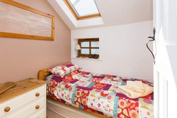 This is the single bedroom - another friendly and welcoming room.
