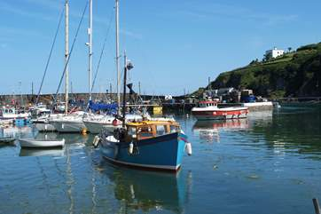 Fishing boats in the harbour.