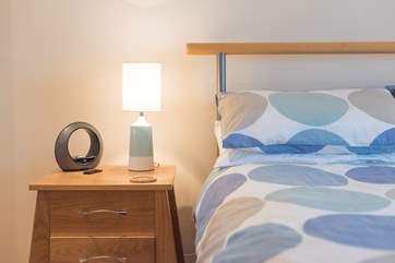 Bedroom 2 has a standard 4' 6'' bed.