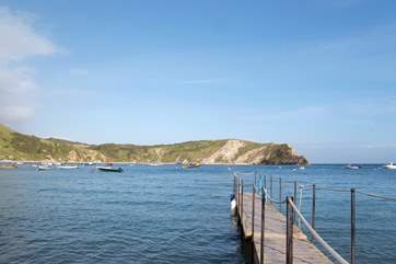 The beautiful natural harbour at Lulworth Cove is well worth a visit.