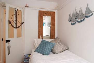 The cottage accommodates two guests only, but with the small single room (Bedroom 2) providing flexibility for two people.