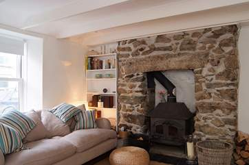 With a large wood-burner as well as central heating, Driftwood Cottage is warm and cosy throughout the year.