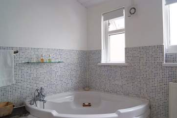 There is also room for a luxuriously large bath!