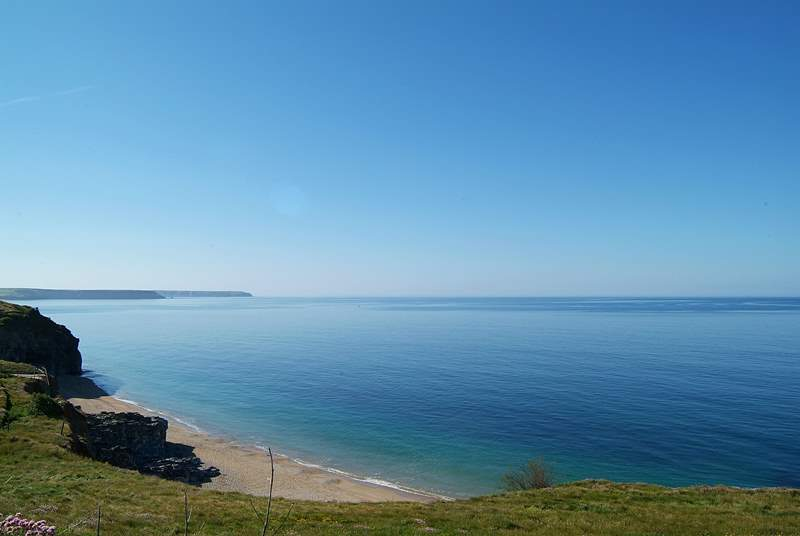 Within a 15 minute walk of the harbour, this is the magnificent view eastwards towards the Lizard peninsula.