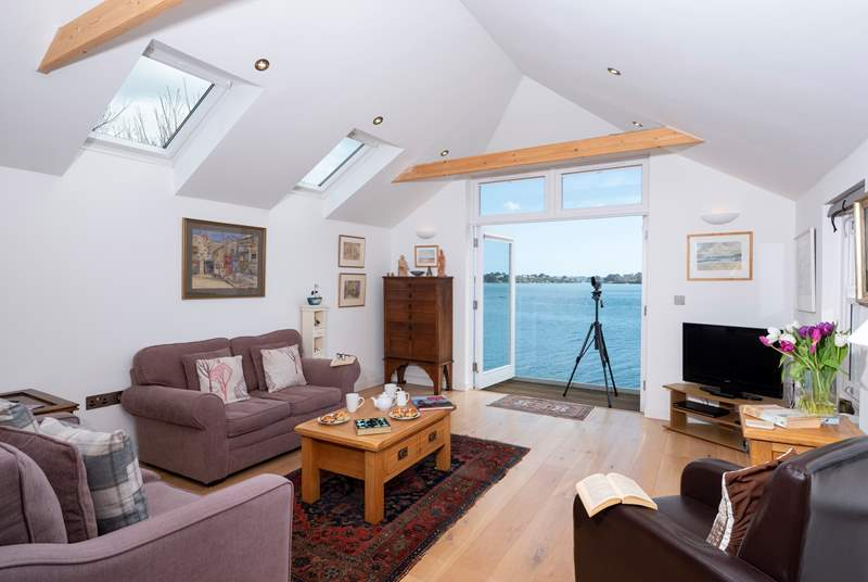 There are fabulous views from the first floor sitting-room and balcony.