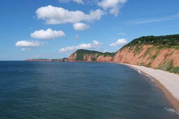 This is the start of the Jurassic Coast at Sidmouth, a short drive the other side of Honiton.