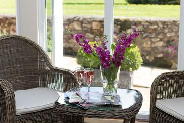 There are lovely quiet places to sit, inside and out, to take in the surroundings and help you to switch off from a hectic daily life.