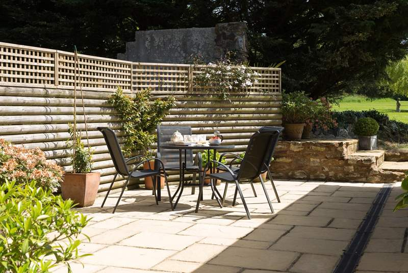 As well as the gardens, there is a totally secluded and private patio - a real sun-trap.