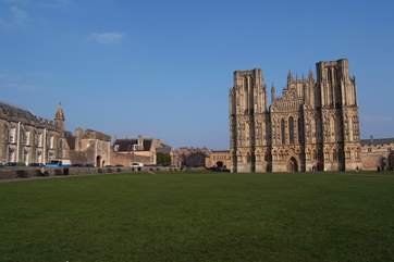 Wells Cathedral is a historic site for a visit.