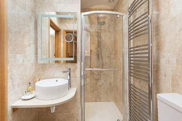 The shower-room can also be accessed from the corridor.