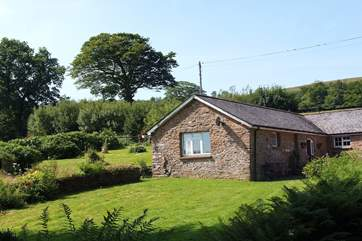 Foxlair Cottage has an incredible view all the way down the valley to Withypool.