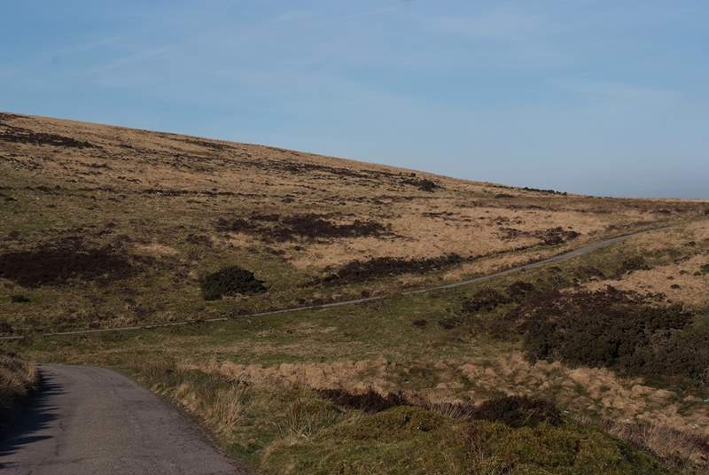 This is the wonderful private road to the farm - a mile of very well-kept track with stunning views all the way.