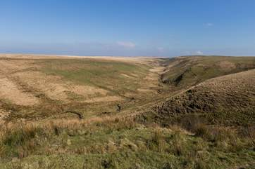 This is the scenery you will be able to expect up on the high ground of the Exmoor National Park.
