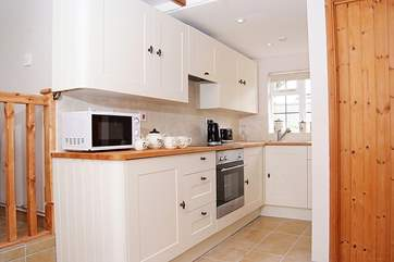 The kitchen is cleverly designed to maximise your space.