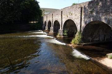 The lovely bridge over the River Barle at the heart of the village.