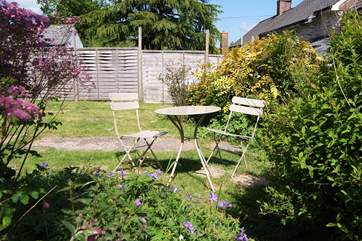 There is a fully enclosed garden at the back of the cottage. Your dogs will be happy and safe there.