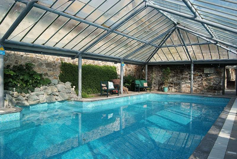 The wonderful indoor pool will give hours of pleasure.