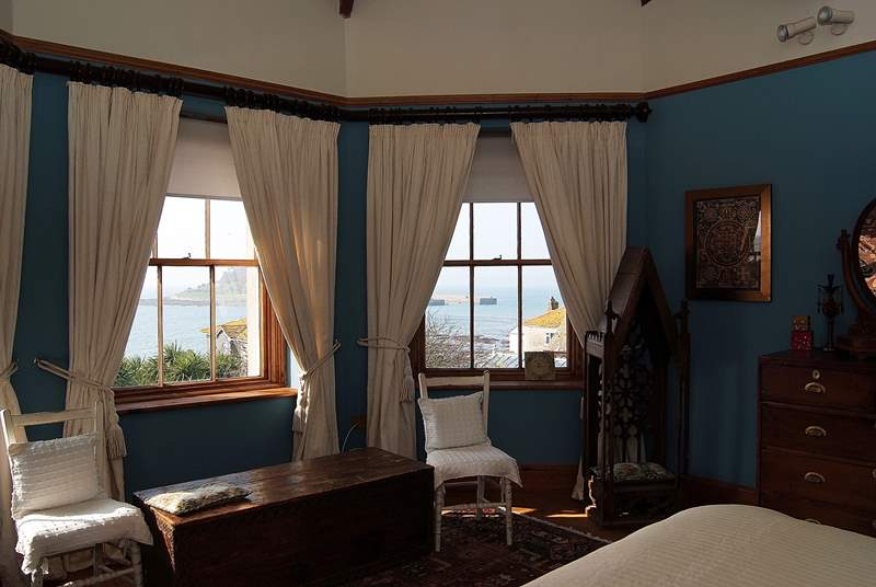There are lovely views of St Michael's Mount from Bedroom 6.
