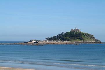 St Michael's Mount is clearly visible from the first floor of The Old Manor House.