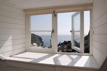 ...and has fabulous views down to the beach and the sea beyond.