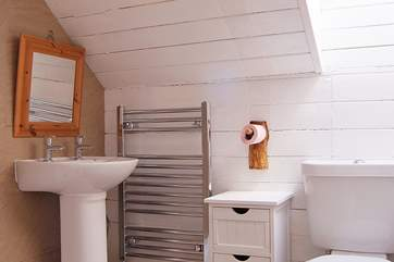 The ingeniously designed shower-room between Bedrooms 2 and 3 makes the most of the available space.