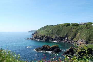 The view out to sea as you head up out of the village on the coastal footpath...
