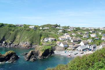 ...and looking back at the picturesque cove from a little further along the same footpath.
