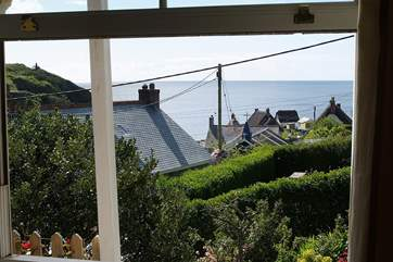 The living-room has the most fabulous sea views.