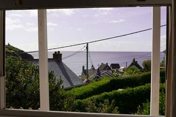 The wondeful view from the living-room where you can watch the changing colours of the sea and sky and spot the fishermen returning home.