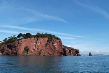 Spectacular cliffs along the coast.