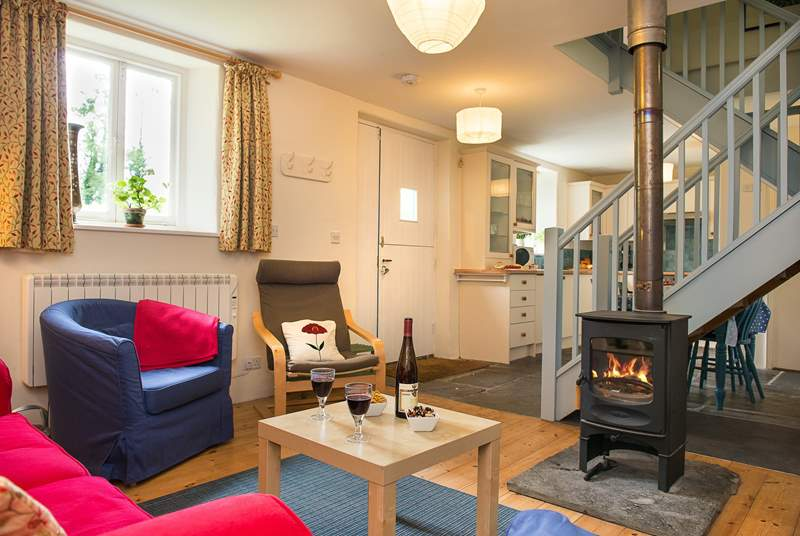 The wood-burner keeps the cottage warm and cosy making this a perfect retreat all year round.