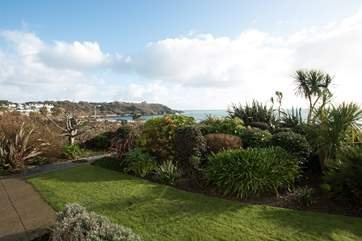 Looking towards Pendennis Head from the gardens.