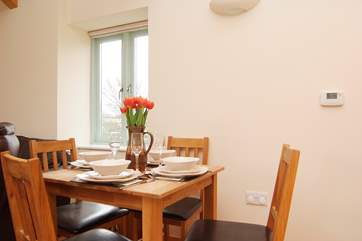 The dining end of the open plan living-room.