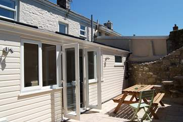 A real sun-trap, the patio is totally private and out of sight from the neighbouring properties.